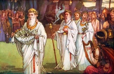 raccolta del Vischio e processione druidica